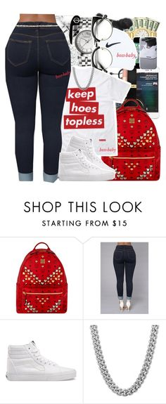 """""""#DAMNNDANIELL 「Contest」"""" by boss-baby ❤ liked on Polyvore featuring MCM, Vans, Sterling Essentials and France Luxe"""