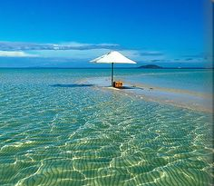 Private beach on an island sandbar