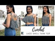 I'm back and I'm so excited for this project. This crochet tank top pattern is a blast from the past. It's one of my earliest crochet video tutorials. Knit Vest Pattern, Crochet Bikini Pattern, Crotchet Patterns, Baby Quilt Patterns, Crochet Tank Tops, Crochet Shirt, American Girl Crochet, Crochet Summer Dresses, Crochet Faces
