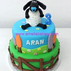 Tarta fondant timmytime- Tarta oveja Cupcakes, Birthday Cake, Desserts, Food, Fondant Cakes, Cookies, Deserts, Custom Cakes, Sheep