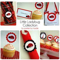 Little Ladybug DIY Printable Party by Parties by Hardie, via Flickr