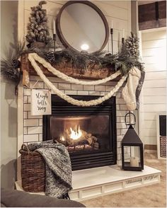 Decorating your fireplace mantel adds a quality to the room. Of course, there are easy and creative themes to decorate your fireplace. home 24 Christmas Fireplace Decorations, Know That You Should Not Do Christmas Mantels, Christmas Home, Christmas Fireplace Decorations, Christmas Gifts, Fall Decorations, Christmas Ideas, Christmas Design, Christmas Christmas, Christmas Ornament