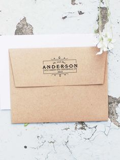 Items Similar To Mr And Mrs Stamp Wedding Address Invitation Custom Stamps Monogram 10001 On
