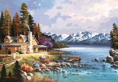 Dağ Evi, James Lee (500 parça puzzle) - Anatolian - Puzzle - Yapboz - Hobi - Koleksiyon