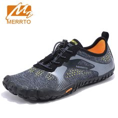 buy merrot men anti skid outsole five finger toes quick drying outdoor waking shoe slip resistant #flexible #pvc