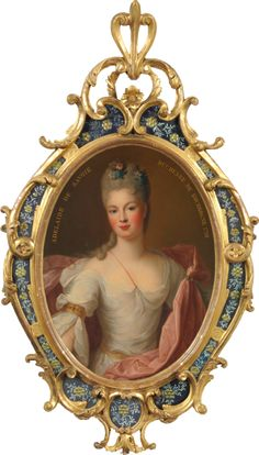 Marie Adelaide of Savoy, Dauphine of France and the mother of Louis XV (portrait by Gobert). She died of measles aged only French History, European History, Marie Antoinette, Versailles, Jean Antoine Watteau, French Royalty, Miniature Portraits, Miniature Paintings, Images Vintage