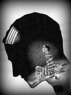 Funny pictures about The Worst Prison Of Them All. Oh, and cool pics about The Worst Prison Of Them All. Also, The Worst Prison Of Them All photos. Depression Remedies, Arte Horror, Gcse Art, Dark Art, Art Journals, Art Drawings, Prison Drawings, Surreal Art, Abstract Art