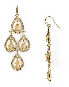 Carolee Topaz Crystal Pear Chandelier Earring | Bloomingdale's