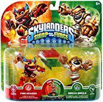 Skylanders Swap Force 2 Pack (Swap-Able) Fire Kraken & Grilla Drilla