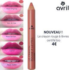 NOUVEAU, les crayons rouges à lèvres certifiés bio Avril se déclinent en 7 teintes délicieusement féminines ! Ici, les 5 premières dans des tons rosés. #jumbo #makeup #maquillage #bio #organic #lipstick #pencil #crayon #rougeàlèvres http://www.avril-beaute.fr/31-rouge-a-levres-crayon