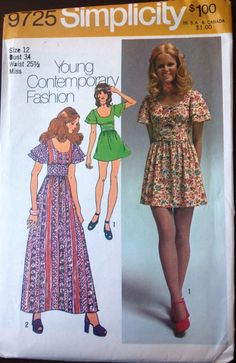 Simplicity 9725 Pattern for Mini or Maxi by VictorianWardrobe, $6.00