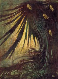 "Edmund Dulac - 'The Haunted Palace' from ""The Bells and Other Poems"" (1912) by Aeron Alfrey, via Flickr"