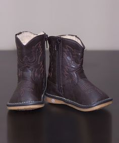 Look at this Princess Linens Dark Brown Leather Squeaker Cowboy Boot on today! Brown Babies, Nina Shoes, Kids Boots, Little Girl Fashion, Cute Little Girls, Baby Boutique, Dark Brown Leather, Cowboy Boots, Slip On