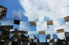 Arnaud Lapierre, ECHAPEES BELLES-RING II 2014 Mirrors installation, Art Festival in ALENÇON