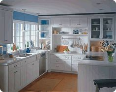 Kitchen Room, Great Bright White Kitche Kitchenset Chandelier Flower Sink Fruits Beautiful Awesome Astonished Excellent ~ What An Amusing Virtual Kitchen Remodel That Very Inspiring Us