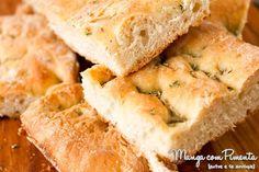 Receita de Focaccia - Pão Italiano, para ver a receita, clique na imagem para ir ao Manga com Pimenta.