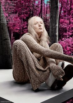 visual optimism; fashion editorials, shows, campaigns & more!: cold comfort: harleth kuusik, maja salamon and nastya sten by craig mcdean fo...