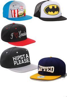 a mi, me encantan gorra Batman y gorra Hipster please.  la gorra Batman es mejor que la gorra con comida.