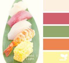 Beautiful sushi color palette