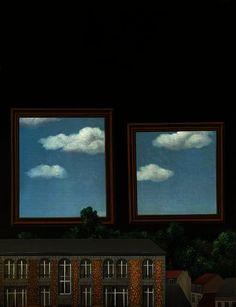La promenade des amoureux de Rene Magritte (1898-1967, Belgium)