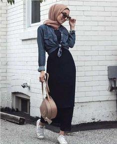 black maxi dress-Casual hijab summer looks – Just Trendy Girls – Hijab Fashion 2020 Hijab Casual, Black Casual Outfits, Black Summer Outfits, Modest Outfits, Dress Casual, Outfit Summer, Maxi Outfits, Ootd Hijab, Hijab Chic