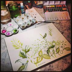 Watercolor - WIP by @marinabarbato