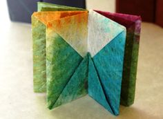 handmade paper blizzard book from Playful Bookbinding and Paper Works