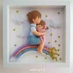 Hobbies And Crafts, Diy And Crafts, Clay Wall Art, Bear Felt, Unique Gifts For Kids, Baby Frame, Baby Keepsake, Felt Toys, Felt Ornaments