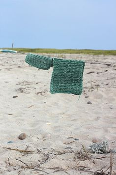 DIY: Pot Holders Knit from Ocean-Tossed Twine by Marnie Campbell, photo by Justine Hand, green mats