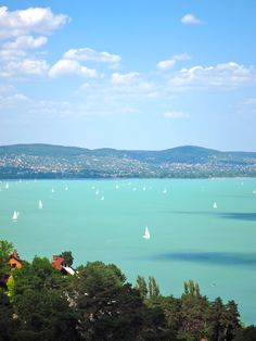 Lake Balaton, Hungary - took the train to here from Budapest.