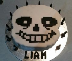 Sans Undertale...12th birthday cake