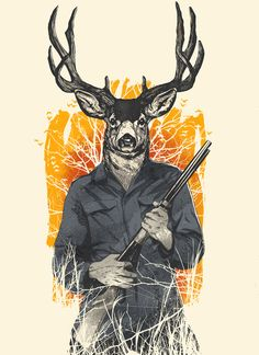 "Hunting Season    by Niel Quisaba  Art Print / MINI (8"" x 10"")    $17.00"