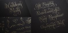 The complete Gratitude Script pack includes lot of ready to use words and flourishment to create wedding or any kind of celebration stationery. – Get the font with a 35% introductory discount for only a few more days following this link: https://www.myfonts.com/fonts/sudtipos/gratitude-script/ #typography #gratutude #sudtipos #wedding