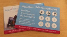 NEW loyalty cards at the cafe bar! Buy 9 hot drinks and get your 10th free! Drop in to find out more #cafe #guildford