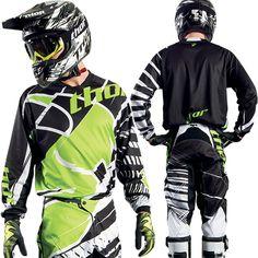 Tenue thor mx 2014 motocross phase mask green