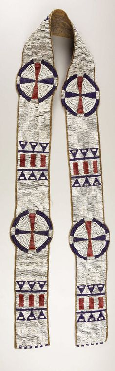 American Indian Art:Beadwork, A SIOUX BEADED HIDE BLANKET STRIP. . c. 1890. ... Image #1
