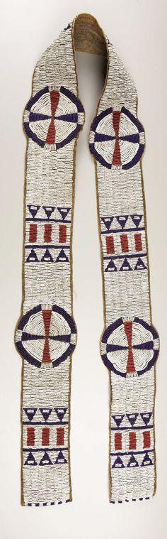 American Indian Art:Beadwork, A SIOUX BEADED HIDE BLANKET STRIP. . c. 1890. ... Image #1
