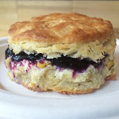 The cruel summer w/ corn butter & blueberry @empirebiscuit is a great way to celebrate. #eeeeeats #newyorklivetv #nbc4ny #food #NYCFOOD #Newyork #NYC #biscuits #breakfast