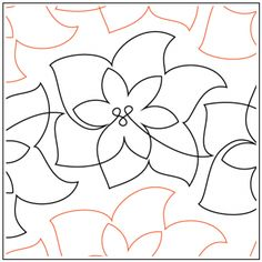 Christmas Poinsettia Pantograph © 2017 Hermione Agee