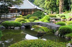 Japanese garden in Kagoyama-en