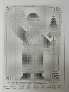 1986 Prairie Schooler Santa - printed and finished Santa Cross Stitch, Cross Stitch Love, Cross Stitch Needles, Cross Stitch Alphabet, Cross Stitch Samplers, Cross Stitch Charts, Cross Stitch Designs, Cross Stitching, Cross Stitch Embroidery