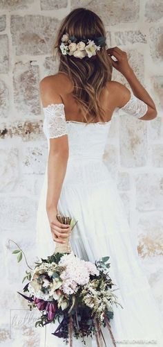 Rustic Wedding Dress Lace Weddings Ivory Lace Wedding Dress