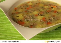 Bramborová kuřecí polévka recept - TopRecepty.cz