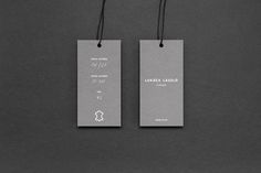 How brilliantly sophisticated is this branding and packaging design for Lukács László Vienna by Peltan-Brosz Roland? Swing Tag Design, Graphic Design Branding, Logo Design, Geometric Construction, Swing Tags, Brand Packaging, Apple Tv, Vienna, Design Inspiration