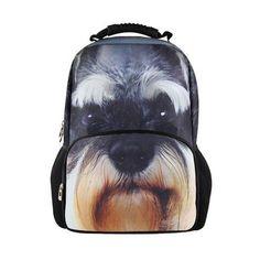 Animal Fashion Dog Face 3D Animals Backpack / School Bag for children kids #BIGCAR #Backpack