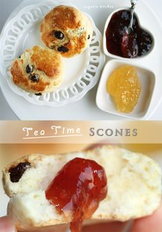 British scones are quick bread made without yeast. They are essential for Devonshire tea, which is also known as cream tea and Cornish cream tea.