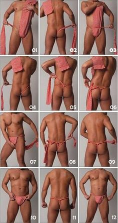 Fundoshi instructions in 12 pictures.