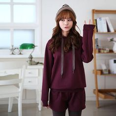 Buy 'CLICK – Set: Hooded Sweatshirt   Inset Leggings Shorts' with Free International Shipping at YesStyle.com. Browse and shop for thousands of Asian fashion items from South Korea and more!