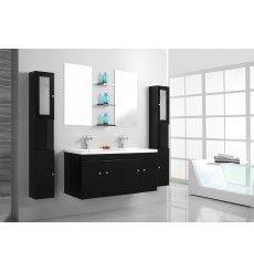meubles salle de bain double vasque achat meubles salle de bain double vasque azura - Meubles Salle De Bains Delpha Unique Ice 120 Soldee