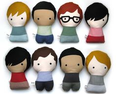 Personalized Stuffed Fabric Doll by citizenscollectible on Etsy. $30.40 USD, via Etsy.